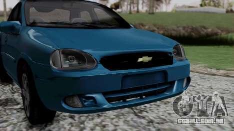 Chevrolet Corsa Classic 2009 v3 para GTA San Andreas vista interior