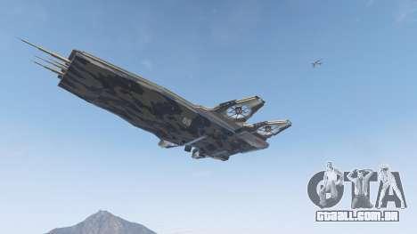 GTA 5 S.H.I.E.L.D. Helicarrier quinta imagem de tela