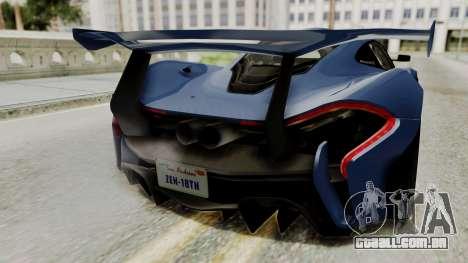 McLaren P1 GTR v1.0 para GTA San Andreas vista traseira