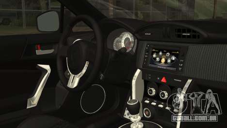 Toyota GT86 2012 LQ para GTA San Andreas vista direita
