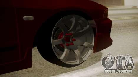 Mitsubishi Galant VR6 Stance para GTA San Andreas traseira esquerda vista