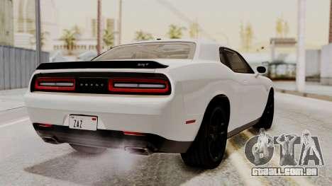 Dodge Challenger SRT Hellcat 2015 HQLM PJ para GTA San Andreas esquerda vista