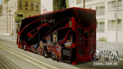 Bus Iron Man para GTA San Andreas esquerda vista