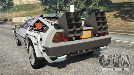 GTA 5 DeLorean DMC-12 Back To The Future v0.4 traseira vista lateral esquerda