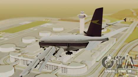 Airbus A380-800 British Overseas Airways Corp. para GTA San Andreas esquerda vista