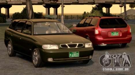 Daewoo Nubira I Spagon 1.8 DOHC 1998 para GTA 4 motor