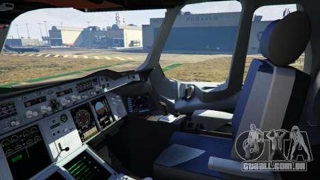GTA 5 Airbus A380-800 v1.1 décimo imagem de tela