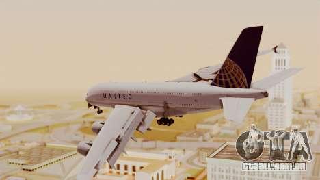 Airbus A380-800 United Airlines para GTA San Andreas esquerda vista