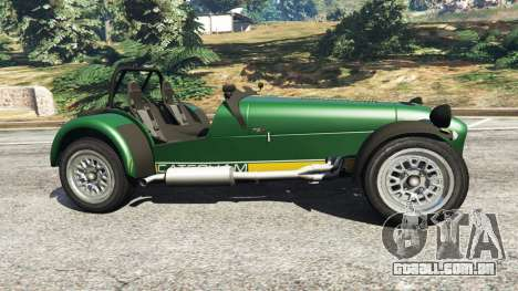 GTA 5 Caterham Super Seven 620R v1.5 [green] vista lateral esquerda