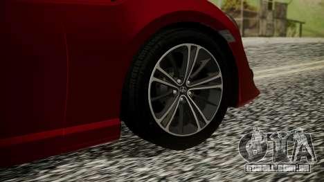 Toyota GT86 2012 LQ para GTA San Andreas traseira esquerda vista