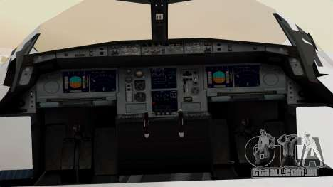 Airbus A380-800 United Airlines para GTA San Andreas vista traseira