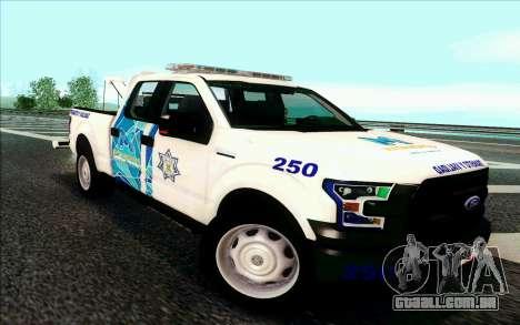 Ford F150 2015 Towtruck para GTA San Andreas esquerda vista