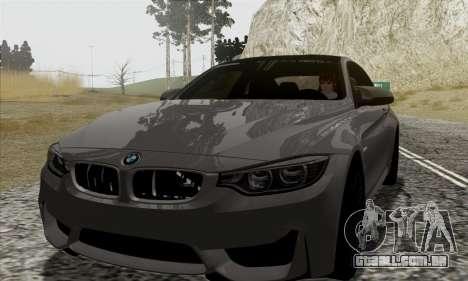 BMW M4 F82 para vista lateral GTA San Andreas