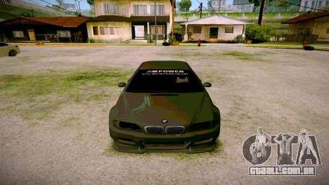 BMW E46 M3 Sport para GTA San Andreas vista traseira