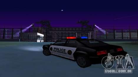 Quatro polícia de Buffalo para GTA San Andreas traseira esquerda vista