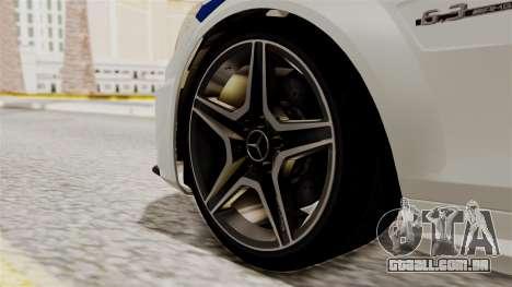 Mercedes-Benz C63 AMG STSI o Ministério de Assun para GTA San Andreas traseira esquerda vista