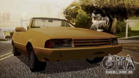 Cadrona Cabrio para GTA San Andreas traseira esquerda vista