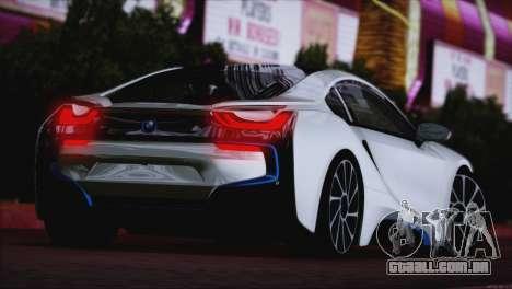 BMW i8 Coupe 2015 para GTA San Andreas traseira esquerda vista
