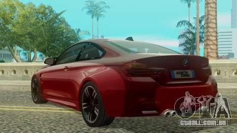 BMW M4 Coupe 2015 para GTA San Andreas esquerda vista