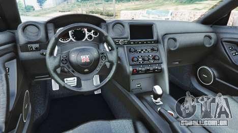 GTA 5 Nissan GT-R (R35) traseira direita vista lateral