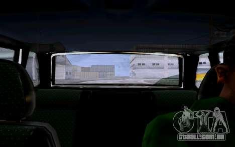 2114 Turbo para GTA San Andreas vista interior