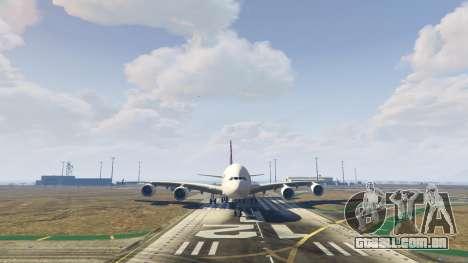 GTA 5 Airbus A380-800 v1.1 sexta imagem de tela