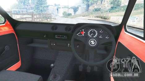 GTA 5 Ford Escort MK1 v1.1 [JE Pistons] vista lateral direita