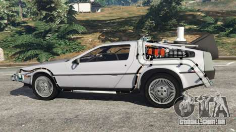 GTA 5 DeLorean DMC-12 Back To The Future v0.4 vista lateral esquerda