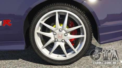 GTA 5 Honda Integra Type-R without license plate traseira direita vista lateral