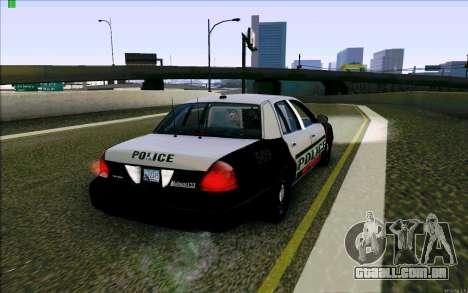 Weathersfield Police Crown Victoria para GTA San Andreas vista direita