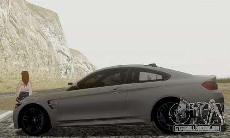 BMW M4 F82 para GTA San Andreas esquerda vista