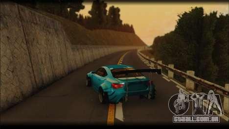 Toyota GT86 Customs Rocket Bunny para GTA San Andreas traseira esquerda vista