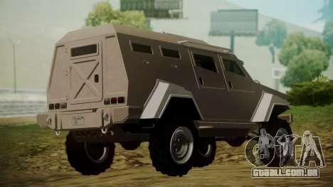 GTA 5 HVY Insurgent para GTA San Andreas esquerda vista