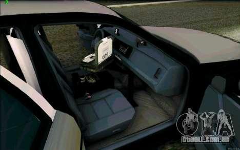 Weathersfield Police Crown Victoria para vista lateral GTA San Andreas