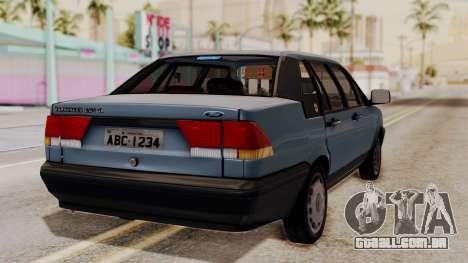 Ford Versailles GL 2.0i 1992-1993 para GTA San Andreas esquerda vista