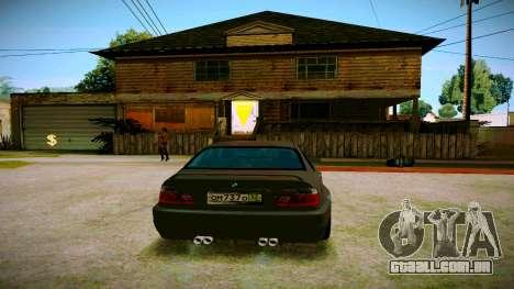 BMW E46 M3 Sport para GTA San Andreas traseira esquerda vista