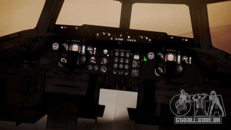 DC-10-30 All-White Livery (Paintkit) para GTA San Andreas vista traseira