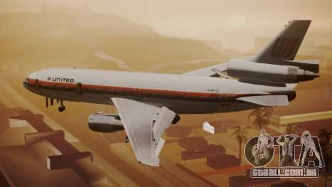 DC-10-10 United Airlines (80s Livery) para GTA San Andreas