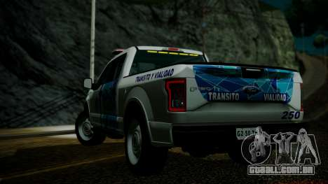 Ford F-150 2015 Transito Vial para GTA San Andreas esquerda vista