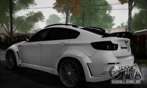 BMW X6M HAMANN Final para GTA San Andreas traseira esquerda vista