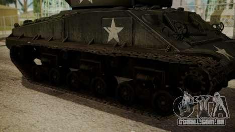 M4A3(76)W HVSS Sherman para GTA San Andreas traseira esquerda vista