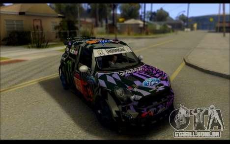 Mini Cooper Gymkhana 6 with Drift Handling para GTA San Andreas traseira esquerda vista