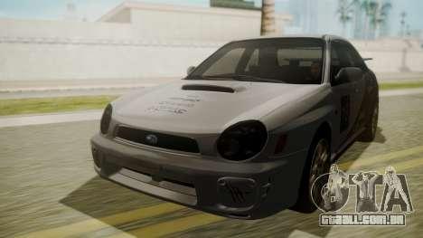 Subaru Impreza WRX GDA para GTA San Andreas vista interior