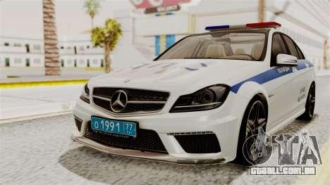 Mercedes-Benz C63 AMG STSI o Ministério de Assun para GTA San Andreas