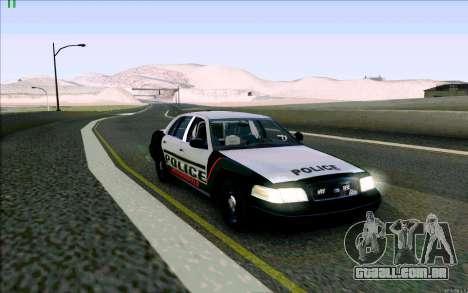 Weathersfield Police Crown Victoria para GTA San Andreas esquerda vista