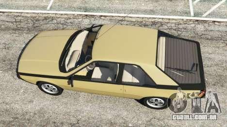 GTA 5 Renault Fuego 1980 voltar vista