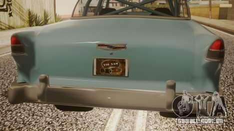Chevrolet Bel Air Gasser para GTA San Andreas vista traseira