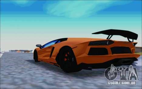 Lamborghini Aventador MV.1 [IVF] para GTA San Andreas traseira esquerda vista