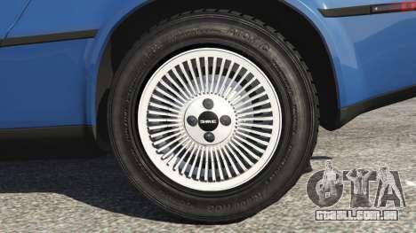 GTA 5 DeLorean DMC-12 v1.1 traseira direita vista lateral