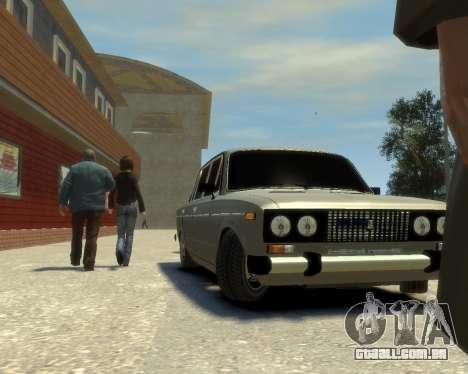 Ваз 2106 Kavkaz Estilo para GTA 4 traseira esquerda vista